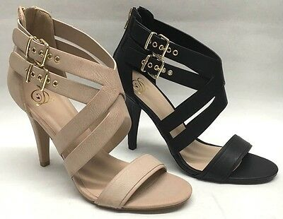 NEW Delicious Orchard Women Juniors Prom Pageant Strappy High Heels Buckle Shoes