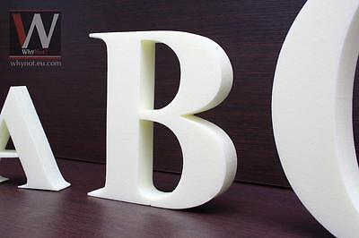Freestanding wallmounted 3D 25 mm thick decorative letters 100-290 mm TIMES font