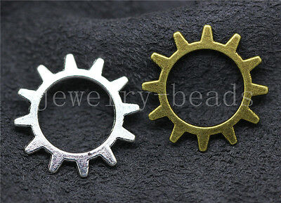 10//40//200pcs Antique Silver Beautiful Flower Jewelry Charms Connectors 23x19mm