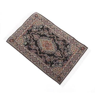Black Miniatures Carpet Doll House Rug for Dollhouse Furniture 1/12 Scale