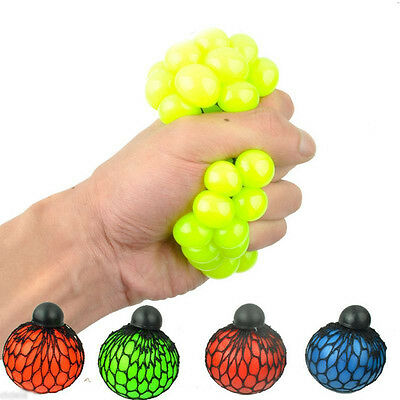 1Pc Random Child in Sensory Creative Squishy Mesh Ball Squeeze Abreaction Toys