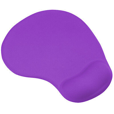TRIXES Purple Mouse Mat Pad with Comfort Gel Wrist Rest Support for PC/Laptop