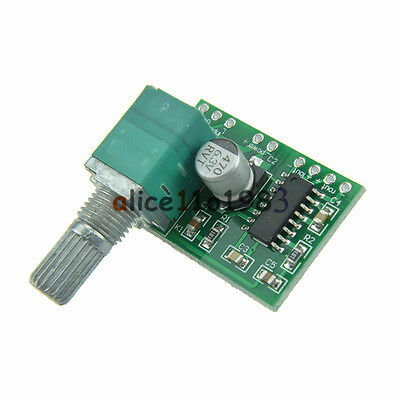 2PCS PAM8403 5V 2 Channel USB Power Audio Amplifier Board 3Wx2W Volume TOP