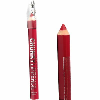 Bright Pink Lip Liner Pencil Chunky Thick Crayon & Sharpener By Technic