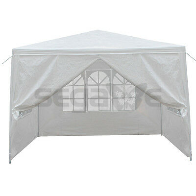 10' x 10' Events White Wedding Party Tent patio Gazebo Canopy with Side Walls