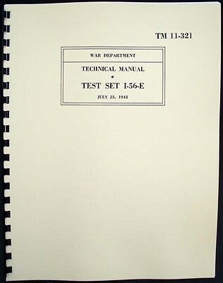 Test Set I-56-E Weston 774 type 4 Tube Tester Manual with Tube Data