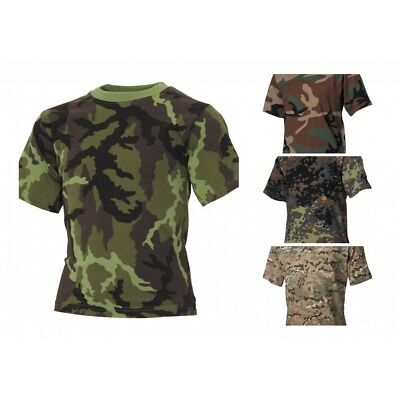 Kinder T-Shirts halbarm Shirt Militär Army Kindershirt Outdoor Freizeit NEU