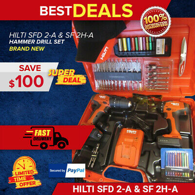 Hilti Sfd 2-A & Sf 2H-A Drill Complete Kit, Newest Model, Durable, Fast Shipping