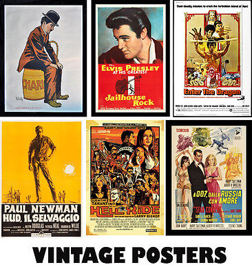 Choice of VINTAGE MOVIE Posters A3, A2, A1 Art Print Posters High Quality