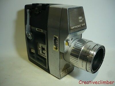1960s Mechanical Bell & Howell Auto Load Optronic Eye 8mm Movie Cine Camera