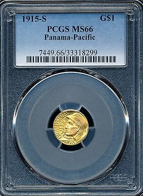 1915-S Panama-Pacific Exposition Commemorative Gold Dollar PCGS MS66