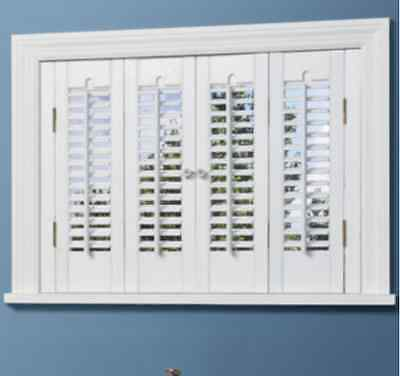 NEW JCPenneyTraditional WOOD Interior Shutters - 4 Panels Window Treatment
