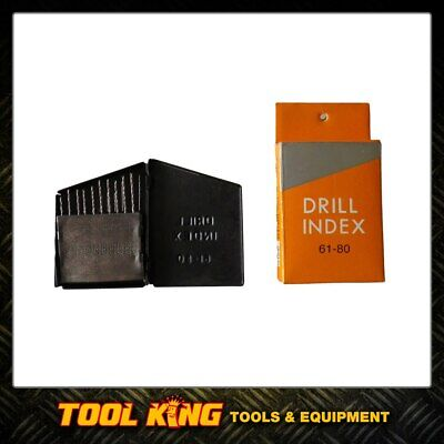 Index drill bit set Extra small drill bits for jets etc