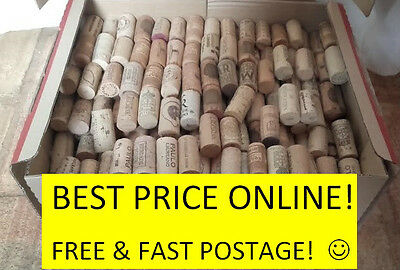 Natural Used Wine Corks,for Crafts,Weddings,Fishing! BEST PRICE ONLINE!UK Seller
