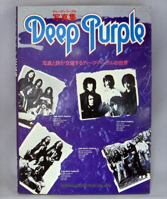"Vintage Photo Book 1977 All About DEEP PURPLE ""The History"" Super rare item!!"