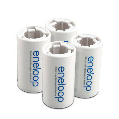Eneloop Battery Converter Battery Adaptor Holder AA R6 to C R14 C-Size - 4 Pcs