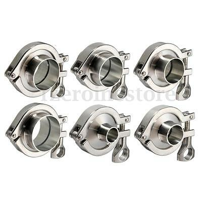 Stainless Steel Sanitary Pipe Weld OD Ferrule Tri Clamp Ptfe Gasket Set SS304
