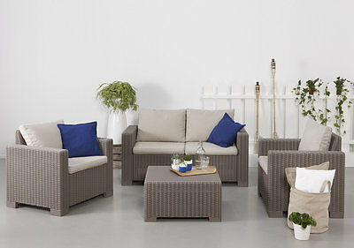 Allibert California Cappuccino Mix And Match Chairs Sofas Tables Free Delivery