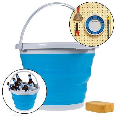 Simply Foldable Silicone 5L Bucket Collapsible Clean Camp Car Water Barrel - LD