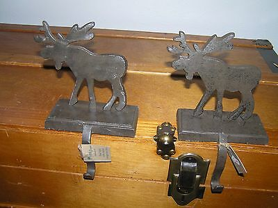 Estate Lot of 2 Park Designs Hand Forged w Wrought Iron Finish Moose Christmas