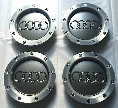 4x AUDI 146mm Alloy Wheel Centre Rim HUB Caps 8D0601165K TT A6 A8 RS4 RS6 S Line