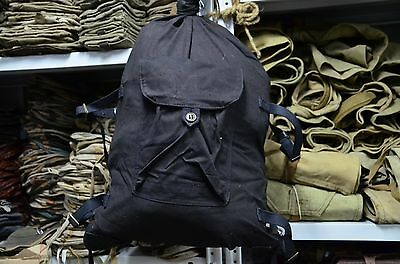 Genuine Russian Black Navy Army Military Canvas Duffle Bag , Backpack Veshmeshok