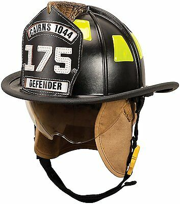 MSA 1044DSB Traditional Composite Fire Helmet Shield with Defender Firefighter
