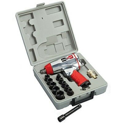 "Clarke X-Pro CAT142 13 piece ½"" Twin Hammer, Compact Air Impact Wrench Kit"