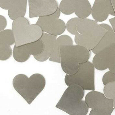 Stamping Blanks Heart 3/4 Inch Metal Blanks Silver Aluminum Metal Stamping