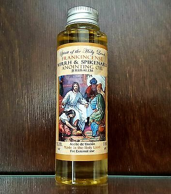 ANOINTING OIL Frankincense Myrrh & Spikenard Oil From Jerusalem Holy Land 110 ml