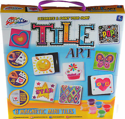 Design Decorate And Paint Your Own Tile Art - Craft Gift Set Toy