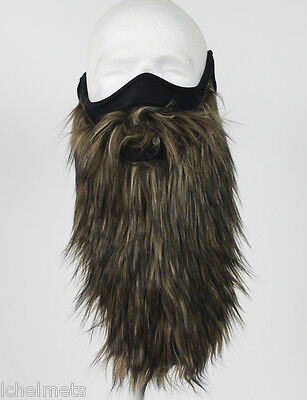 DUCK DYNASTY STYLE Beard Face Mask - BROWN Snowmobile/Motorcycle  Face Mask