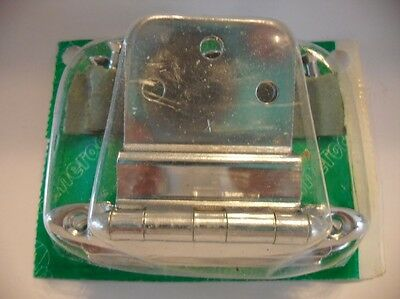 "Vintage NOS CHROME Wrought Steel Cabinet HINGES For 3/8"" Inset Doors Amerock"