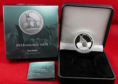 "2012   1oz , $ 1 Silver Kangaroo "" Proof coin "" -  Royal Australian Mint"