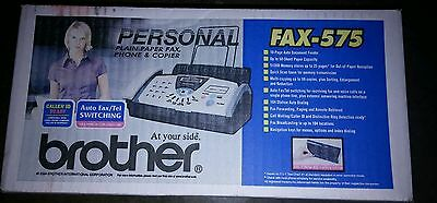 Brand New Sealed Brother Fax-575 Plain Paper Fax Phone Copier *usa Retail*