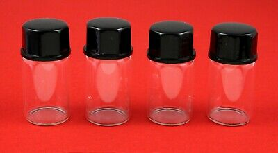 1/2 oz glass display vials for gold prospecting nuggets Qty 4