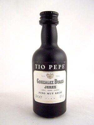 Miniature circa 1985 GONZALEZ BYASS TIO PEPE (Plastic Bottle) Isle of Wine