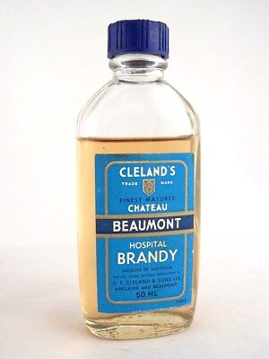 Miniature circa 1973 CLELANDS CHATEAU BEAUMONT BRANDY Isle of Wine • AUD 38.95