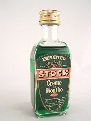 Miniature circa 1974 STOCK CRME DE MENTHE Isle of Wine
