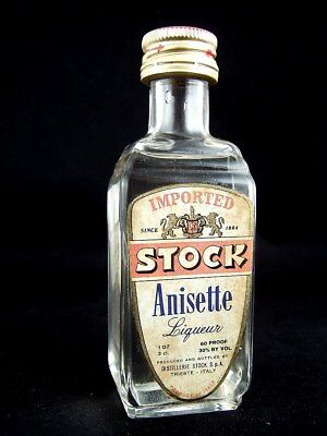 Miniature circa 1974 STOCK ANNISETTE LIQUEUR Isle of Wine • AUD 44.95