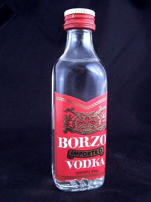 Miniature circa 1988 BORZOI VODKA Isle of Wine