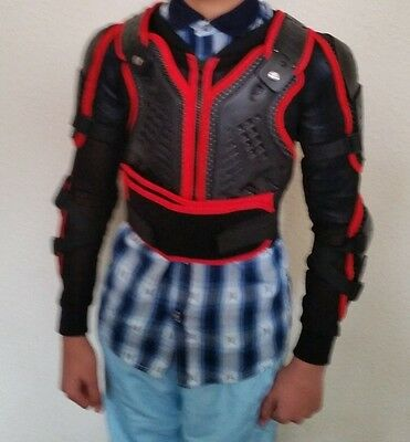 Kids Body Armour Motorcycle Motorbike Motocross spine Protector Guard Jacket Red