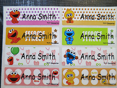 100 Sesame Street Personalized Waterproof Name Stickers Label Decals