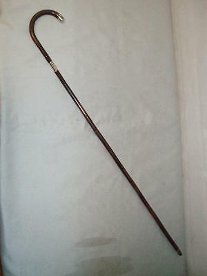 "ANTIQUE LADIES HALLMARKED SILVER WALKING STICK 36.1/2"".Jonathan Howell 1912"