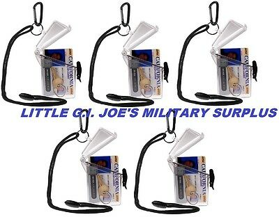 Qty-10 Clear Witz Waterproof ID Case Badge Case Rafting Case Credit Card Case