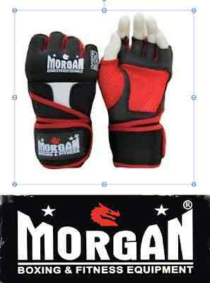 MORGAN GEL SHOCK HAND WRAPS WRIST GUARDS Boxing Gloves MMA Muay Thai S M L XL