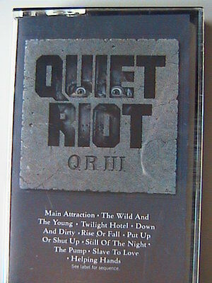 """Quiet Riot """"Iii"""" Cassette 1986 The Wild And The Young Main Attraction"""