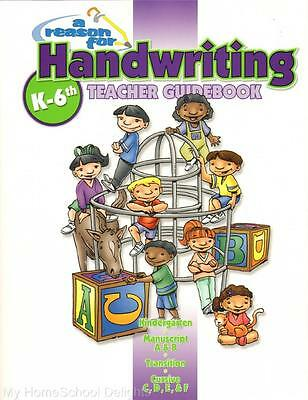 NEW A Reason for Handwriting Teacher Guidebook Grade K - 6 Christian Homeschool
