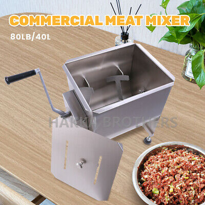 Hakka 80 Pound /40 Liter Capacity Tank Commercial Manual Meat Mixers  FME40