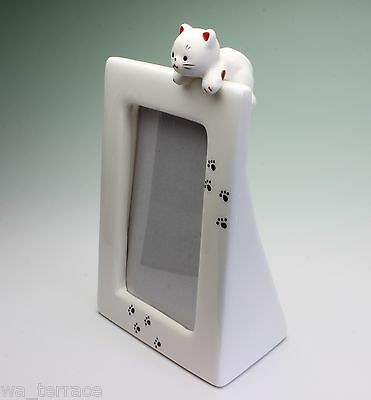Hang In There Kitten Cat Porcelain Table Top Photo Frame Both Orientations